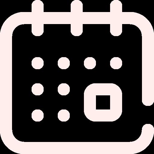 Icone calendrier orange clair