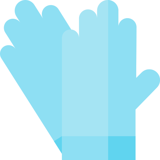 Icone gants de ménage bleu