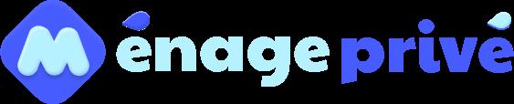 Logo Ménage Privé bleu clair et bleu foncé