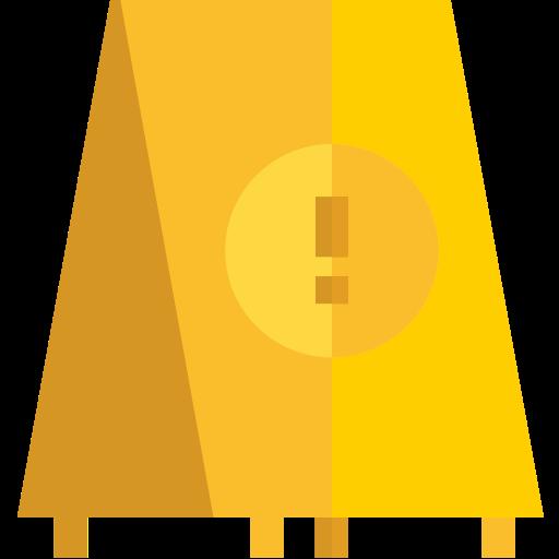 Icone sol glissant gold