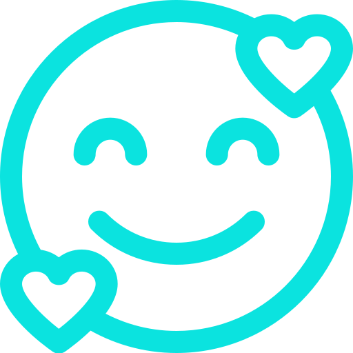 Icone sourire turquoise