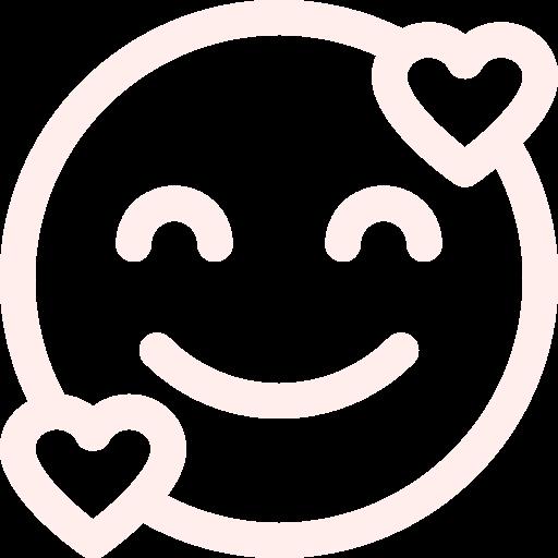 Icone sourire orange clair